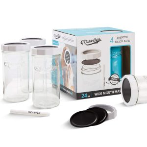 Masontops Multi-Use Wide Mouth Mason Jars & Lid Set- Limited Edition