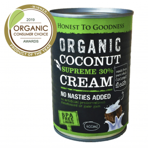 Organic Coconut Cream Supreme 400ml - (No Nasties Added)